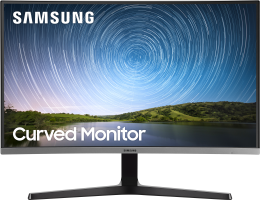 "Жк монитор   Samsung C27R500FHI 26.9"" curved (R 1800mm) Wide LCD VA LED monitor, 1920*1080, 4(GtG)ms, 250 cd/ m2, MEGA DCR(static 3000:1), 178°/ 178°, D-sub, HDMI, Vesa 75x75mm, Flicker free, black (LC27R500FHIXCI)"